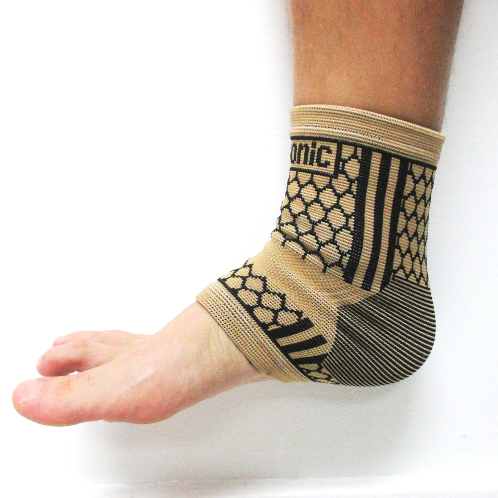 2 Ankle Brace Support Elastic Compression Wrap Sleeve Sports Relief Foot SM L XL