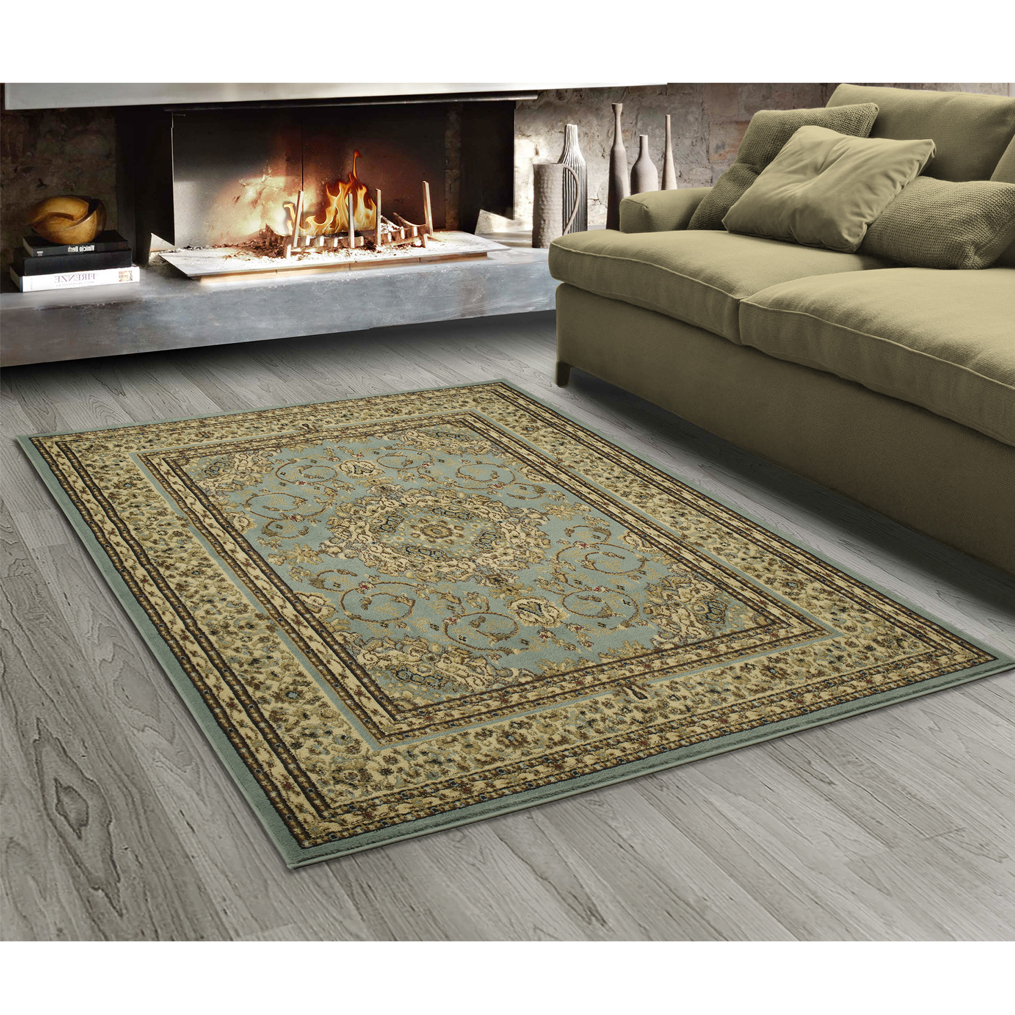 "Sweet Home Stores King Collection Oriental Medallion Design Area Rugs Clearance, 5'3"" X 7'0"", Isfahan Blue Teal"