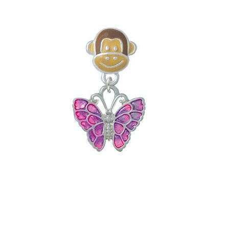 Hot Pink   Purple Butterfly   Monkey Face Charm Bead