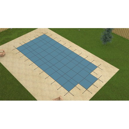 Hpi 16X32 Aqua Master Blue Inground Solid Swimming Pool Safety Cover W Pump