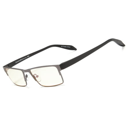 GAMMA RAY 009 Professional Style Eye Strain Relief Computer Glasses Anti Harmful Blue Light Anti Glare UV400 for Monitor Screens (Ray Ban Eyeglasses Made In Italy)