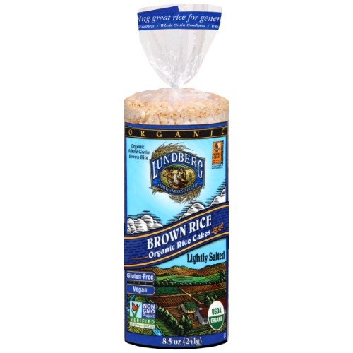 Lundberg Organic Brown Rice Cakes (Lightly Salted), 8.5 Ounces