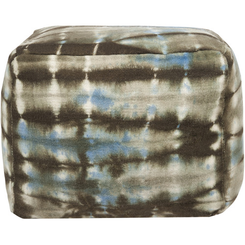 Surya 16 in. Cube Wool Pouf by Surya Rugs