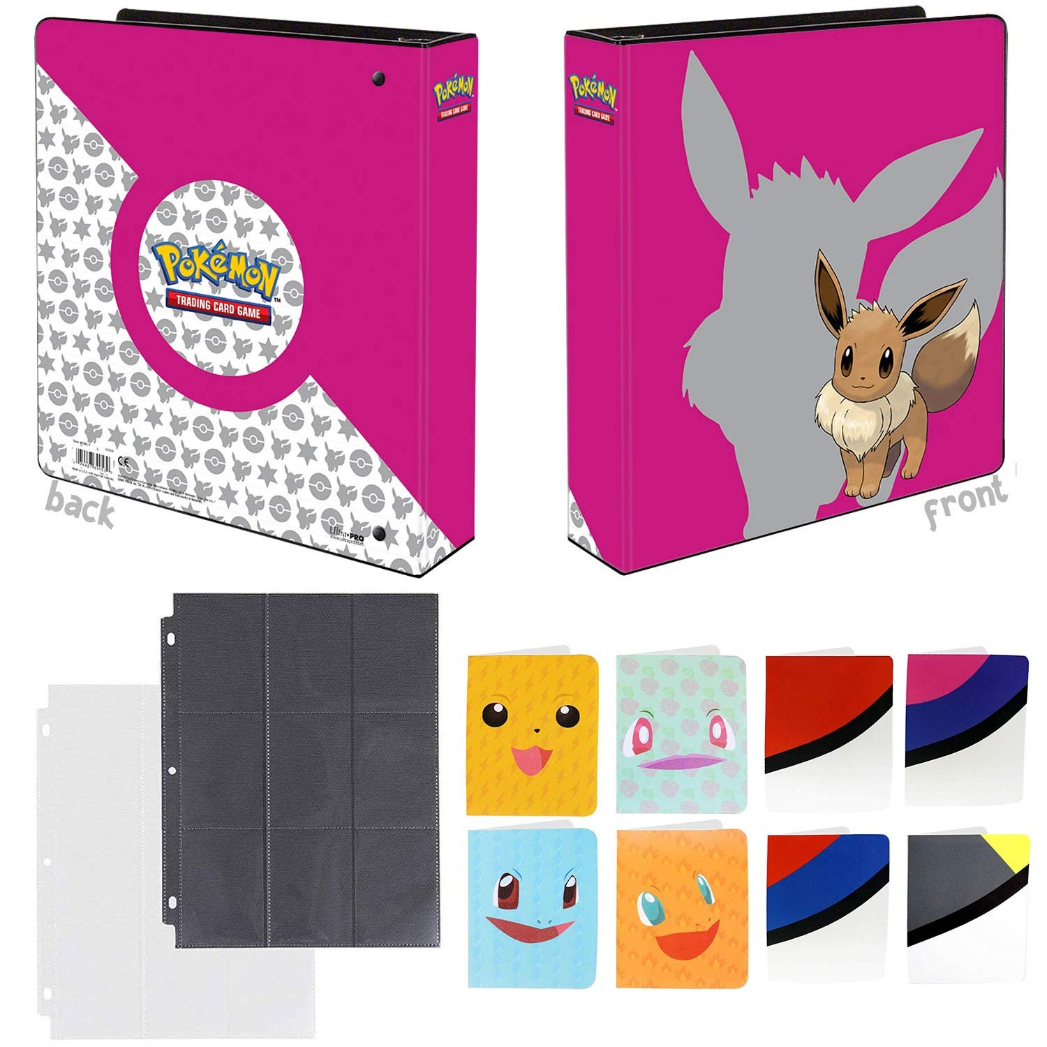 Totem World Eevee 3-Ring Binder With 25 9-Pocket Pages And