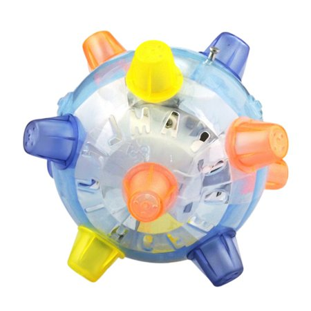 Jumping LED Disco Dancing Ball Flashing Light Up Music Bounce Bouncing Toy Ball](Ball That Lights Up)