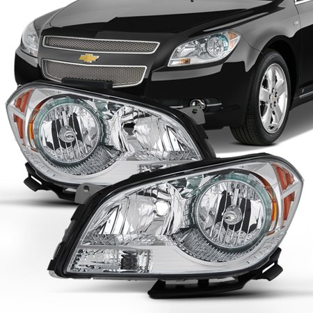 Fit 2008 2009 2011 2012 Chevy Malibu Driver+Passenger Side Headlights Headlamps Chevy Malibu 2009