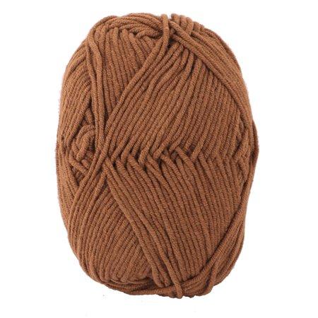 Dorm DIY Handcraft Personalized Scarf Sweater Crochet Yarn String Cord Brown