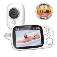SereneLife SLBCAM20 - Wireless Baby Monitor System - Child Home Monitoring Camera & Portable Video Display System