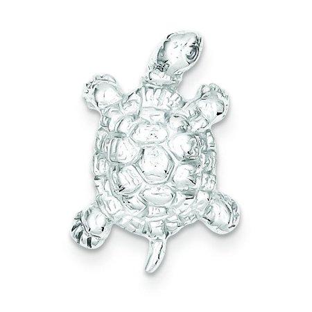 Sterling Silver Turtle Charm Pendant Tortoise Jewelry (Tortoise Bowl Pendant)