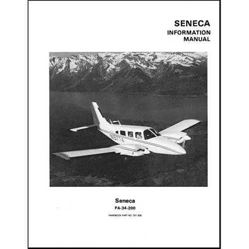 piper pa34 200 seneca pilot s information manual part 753 815 rh walmart com Poh PA 34 Pa- 32