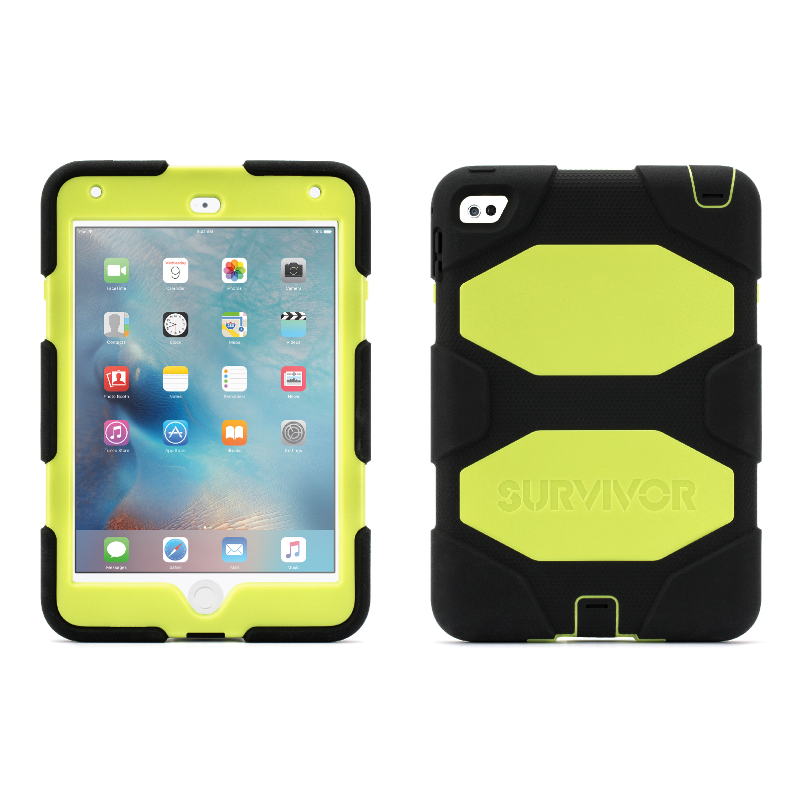 Griffin Griffin iPad mini 4 Rugged Case, Survivor All-Terrain Protective Case + Stand, Mil-spec tested, real-world proven protection