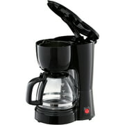 Mainstays Black 5 Cup Coffee Maker With Removable Filter Basket