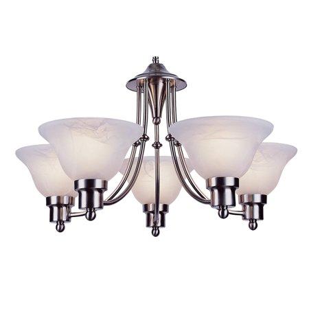 Trans Globe Lighting PL-6545 Payson 5-Light 1 Tier Fluorescent Chandelier
