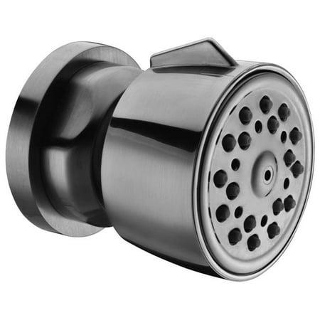 Brushed Nickel Modern Round Adjustable Shower Body Spray