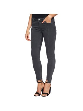 1.State Womens Frayed Skinny Fit Jeans