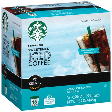 Starbucks Sweetened Iced Coffee K Cup 16 Ct Box
