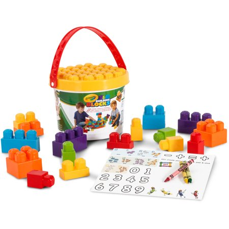 Crayola Kids at Work Learn and Play 25-Piece Bucket of Blocks ...