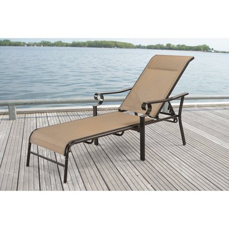 Mainstays valancia sling lounge for Better homes and gardens hillcrest outdoor chaise lounge