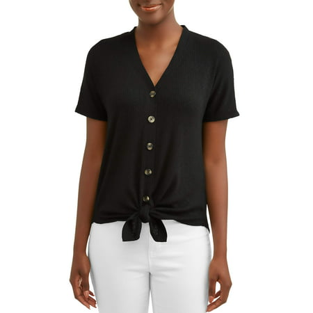Fleur Button Front Shirt - Women's Button Front T-Shirt