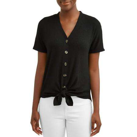 Women's Button Front T-Shirt (Microfleece Button Front Shirt)