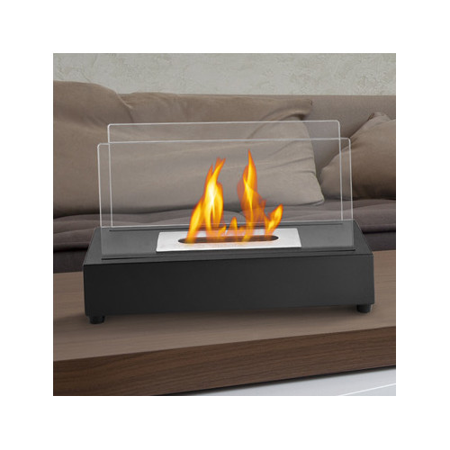 Ignis TTF-017 Tower Black Tabletop Ventless Ethanol Fireplace