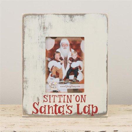 glory haus sittin on santa's lap picture - Original Lap Frame