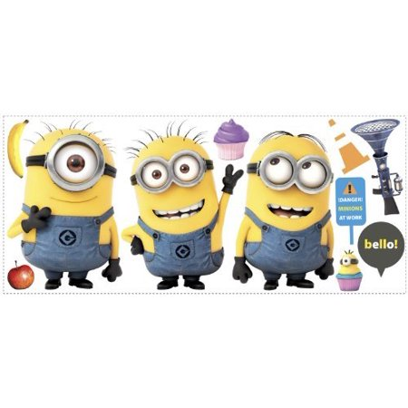 Despicable Me 2 Movie Minions Giant Wall Decals 12x48.5 by, Removable, peel and stick bedroom Wall Decorations Room Decals Stickers By - Giant Minion