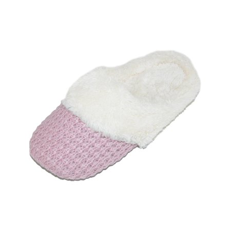 Women's Sweater Knit Closed Toe Scuff Slippers
