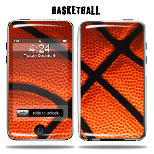 Mightyskins Protective Vinyl Skin Decal Cover for Apple iPod Touch 2G 3G 2nd 3rd Generation 8GB 16GB 32GB mp3 player wrap sticker skins  - Basketball