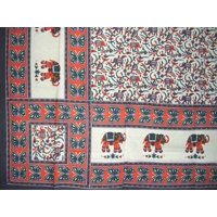 """Floral Print Tapestry Cotton Bedspread 104"""" x 88"""" Full Gray"""