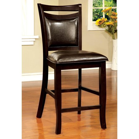 Oak Counter Height Side Chair - Furniture of America Ridgeway Counter Height Side Dining Chair - Set of 2