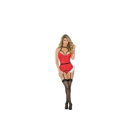 Fetish Clothing (Escante EL-34773XH Queen Fetish Santas Helper 2X/3X / Red/Black)