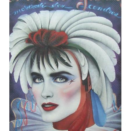 Andrea Mistretta Famous Mardi Gras Art Print 1986 Mercredi Des Cendre, World Famous Artist Andrea Mistretta- By New Orleans (Halloween Weather New Orleans)