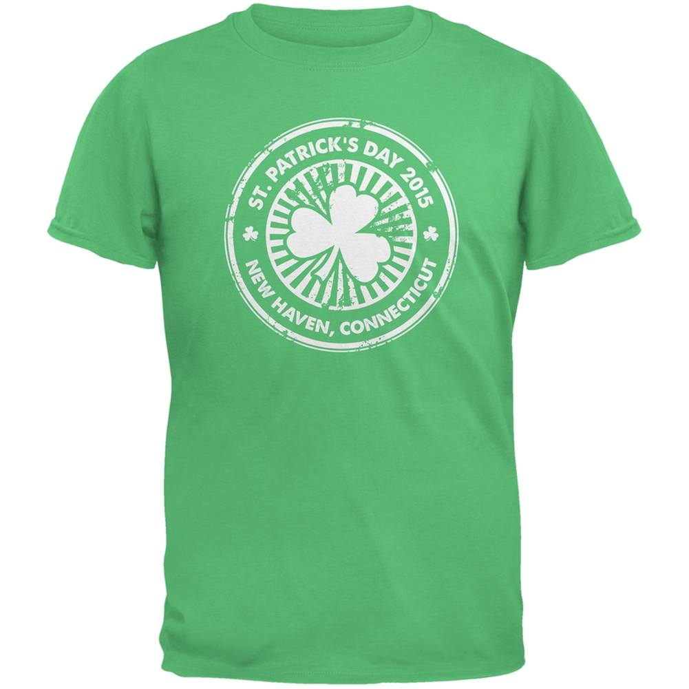 St. Patrick's Day - New Haven CT Irish Green Adult T-Shirt