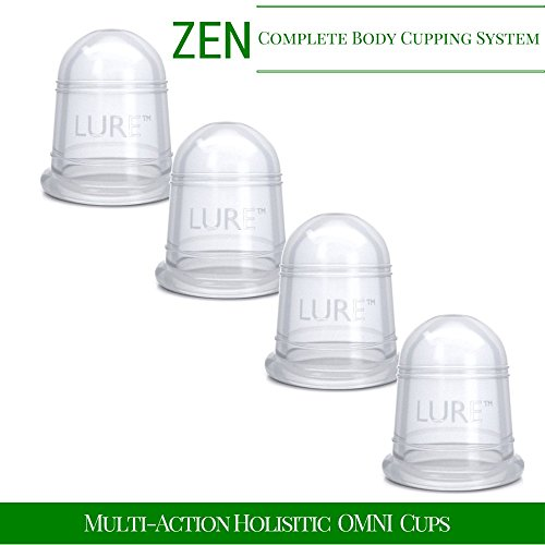 Cupping Massage Set - the Most Recommended Chinese Therapy, Fascia Release, Trigger Point, Pain Relief, Cellulite Blaster - Professional Grade - 4 Cups (4)