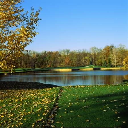 Golf course Laurel Valley Golf Club Ligonier Westmoreland County Pennsylvania USA Canvas Art - Panoramic Images (24 x 24)