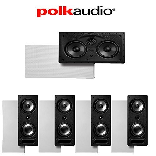 Polk Audio 265-RT + Polk Audio 255C-LS 5.0 Vanishing Series In-Wall Home Theater Speaker Package by Polk Audio