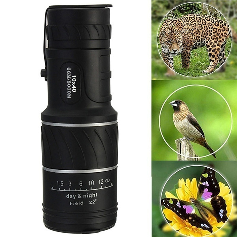 U-MAX 16X52 Portable Telescope Day Vision HD Optics Lens BK4 Monocular Telescope Hunting Hiking Telescope