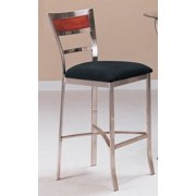 Bar Stool in Chrome and Black Finish - Set of 2