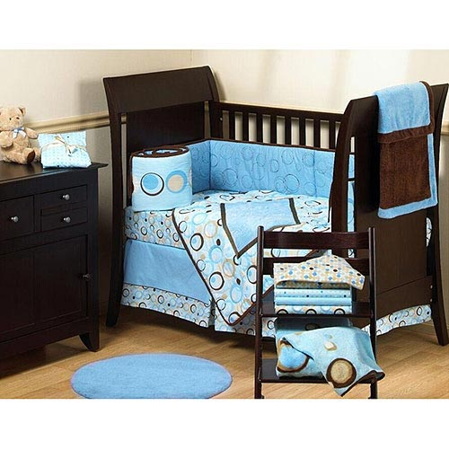 George Baby - Uptown 4-Piece Crib-In-A-Bag Bedding Set, Blue