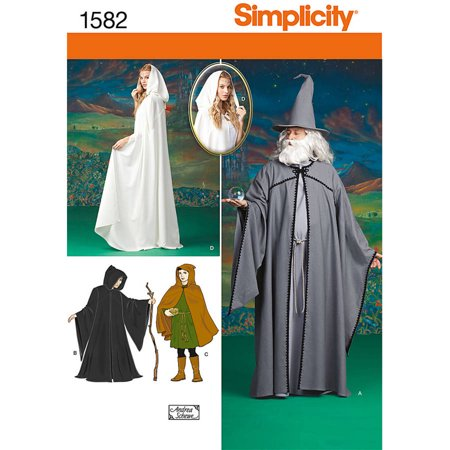 Simplicity Misses', Men's & Teen's Cape, Tunic & Hat Costume Pattern, 1