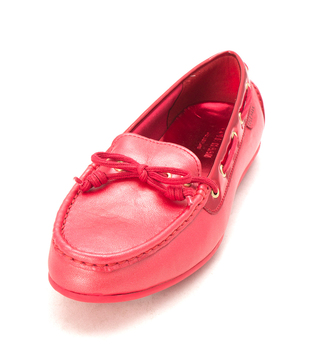Cole Haan Womens D43378 Closed Toe Boat Shoes, Red Metallic, Size 6.0