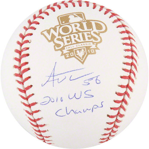 MLB - Andres Torres Autographed World Series Baseball | Details: San Francisco Giants, 2010 WS Champs Inscription
