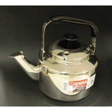 Stainless Steel Whistling Tea Pot, #113518, Stainless Steel By Zebra (Zebra Post)