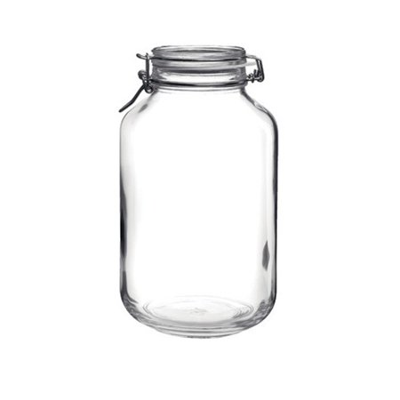 Bormioli Rocco Large Glass Fido Canning Jar - 4 Liter ()
