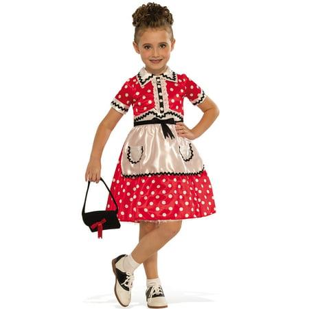 Little Lady Girls 1950'S Child Rockabilly Decades Halloween Costume](Halloween 5 Little Girl)