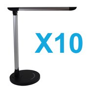 LOT X10 Adjustable Dimming Touch Luxury LED Desk Lamp Reading Light Dimmer Cool