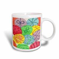 3dRose Painted Easter Eggs, Ceramic Mug, 11-ounce