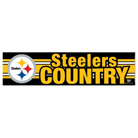 Wheeling stickers pittsburgh steelers official nfl 12 inch x 3 inch bumper sticker