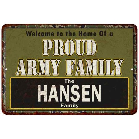 UPC 786359188018 product image for Hansen Proud Army Family Personalized Gift 8x12 Metal Sign 208120023193 | upcitemdb.com